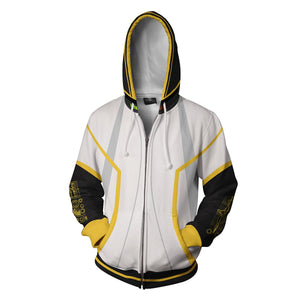Vocaloid Kagamine Rin/Len Hoodies - Zip Up White Hoodie