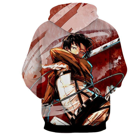Image of Attack On Titan Levi Slash 3D Printed Hoodie