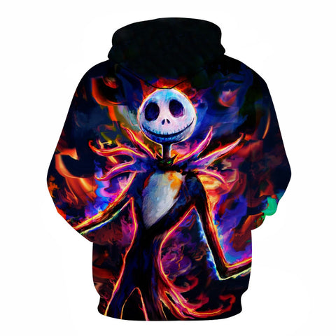 Image of Halloween brave Jack Skellington  3D Printed Hoodie