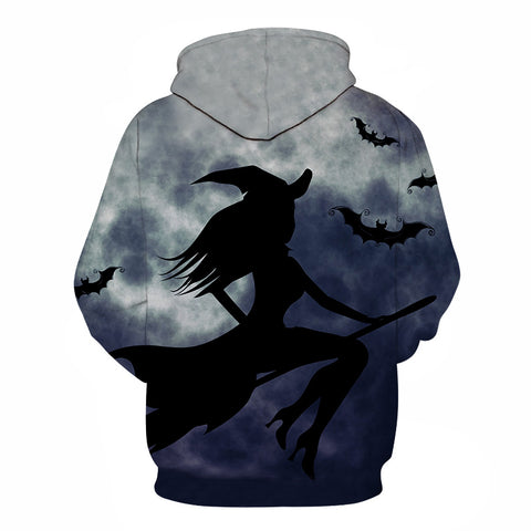 Image of Halloween Witch Print Hoodie