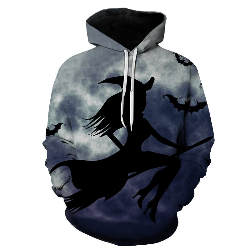 Halloween Witch Print Hoodie