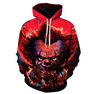 Halloween  Devil clown 3D Printed Hoodie