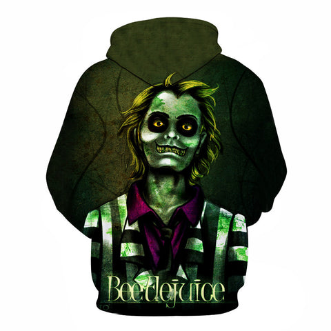 Image of Halloween  Beetlejuice Nightmare 3D Printed Hoodie