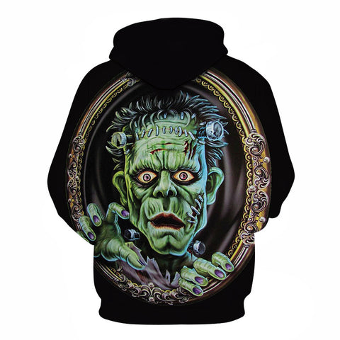 Image of Devil Print Halloween Ghost 3D Printed Hoodie