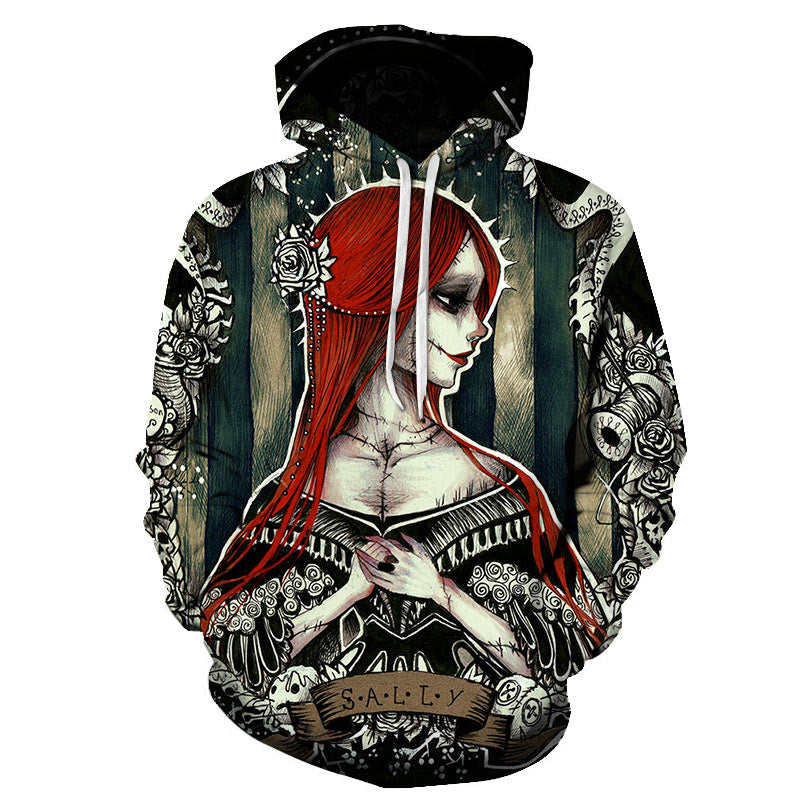 Halloween Red hair Sally 3D Printed Hoodie