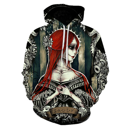 Image of Halloween Red hair Sally 3D Printed Hoodie