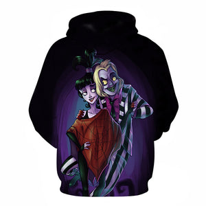 Halloween  Beetlejuice Nightmare dancing 3D Printed Hoodie