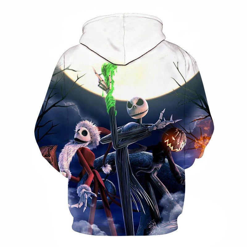 Halloween Jack Skellington and Santa Claus 3D Printed Hoodie