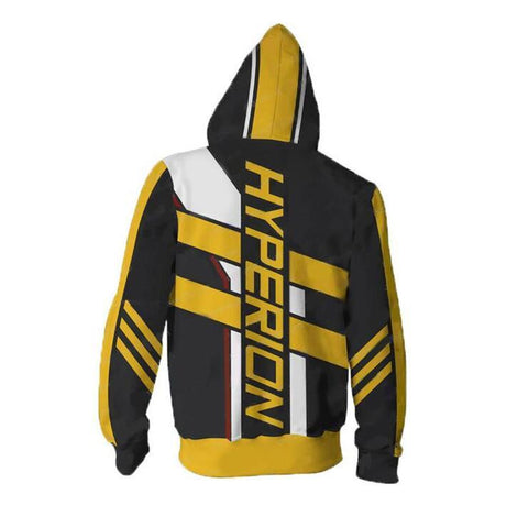 Image of Borderlands Hyperion Hoodies - Zip Up Yellow Hoodie