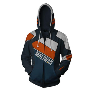 Borderlands Gerald Hoodies - Zip Up Orange Hoodie
