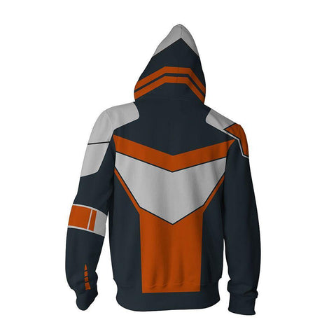 Image of Borderlands Gerald Hoodies - Zip Up Orange Hoodie