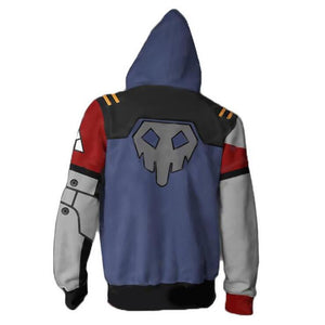 Borderlands 2 Gaige Hoodies - Zip Up Grey-blue Hoodie