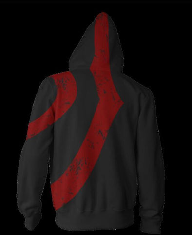 Image of God of War Kratos Hoodies - Zip Up Black Hoodie