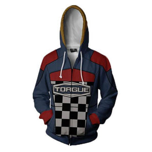 Borderlands Torgue Hoodies - Zip Up Grid Hoodie