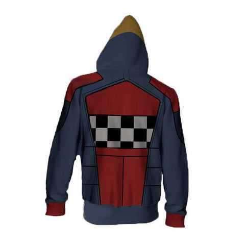 Image of Borderlands Torgue Hoodies - Zip Up Grid Hoodie