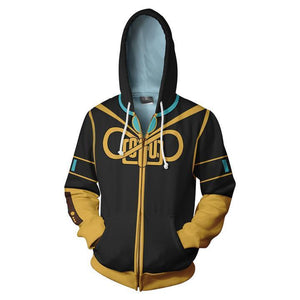 Vocaloid Megurine Luka Hoodies - Zip Up Yellow Hoodie