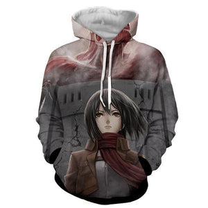 Mikasa Ackermann Attack On Titan 3D  Printed Hoodie
