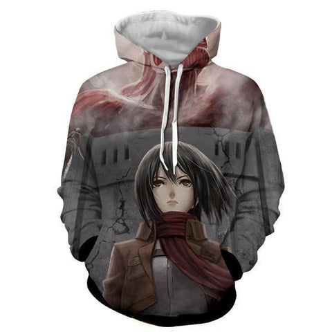 Image of Mikasa Ackermann Attack On Titan 3D  Printed Hoodie