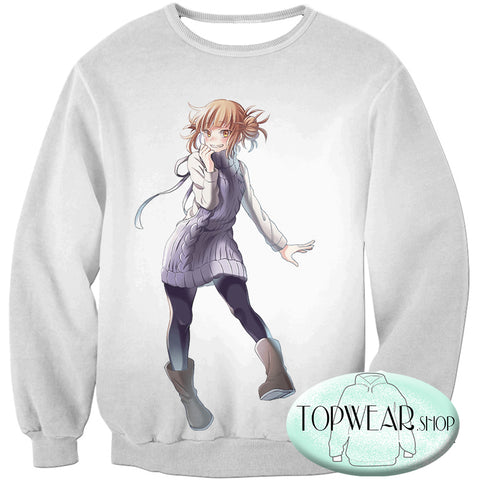 Image of My Hero Academia Hoodies - Cute Villain Himiko Toga Pullover Hoodie