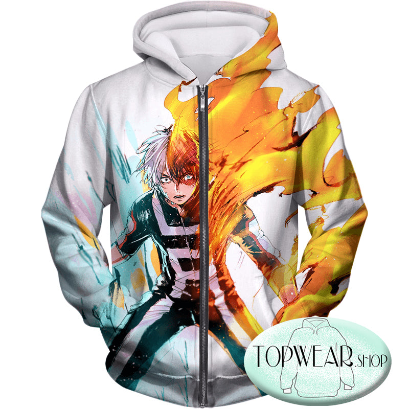 My Hero Academia Hoodies - Half-Cold Half-Hot Shoto Todoroki Pullover Hoodie