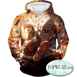 My Hero Academia Hoodies - Explosive Hero Bakugo Katsuki Zip Up Hoodie