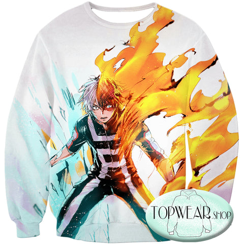Image of My Hero Academia Hoodies - Half-Cold Half-Hot Shoto Todoroki Pullover Hoodie