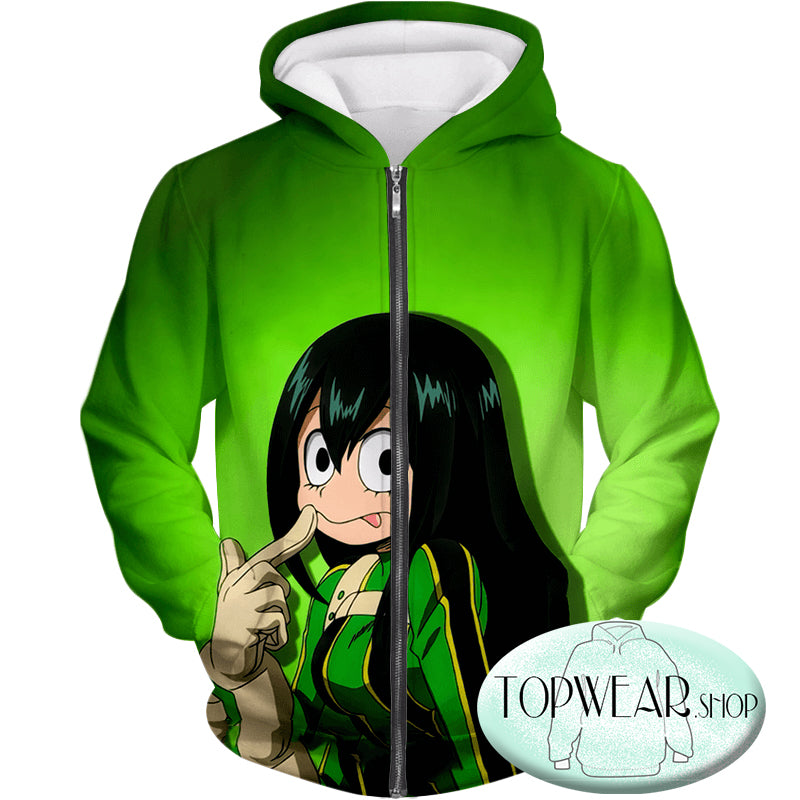 My Hero Academia Sweatshirts - Green U.A High Hero Tsuyu Asui Sweatshirt