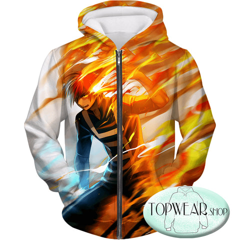 Image of My Hero Academia Sweatshirts - Shoto Todoroki Half Hot Half Sweatshirt