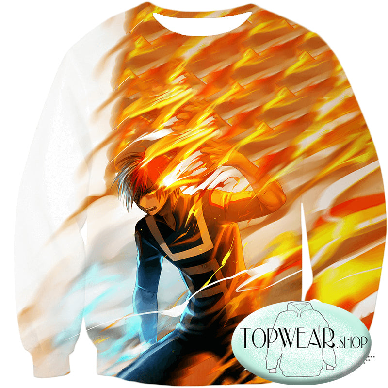 My Hero Academia Sweatshirts - Shoto Todoroki Half Hot Half Sweatshirt