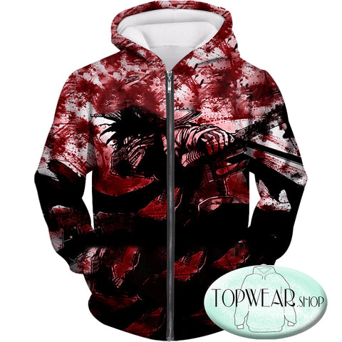 Image of My Hero Academia Hoodies - Hero Killer Stain Action Pullover Hoodie