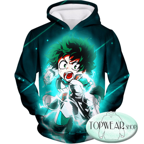 My Hero Academia Hoodies - Hero Student Izuki Midoriya Zip Up Hoodie