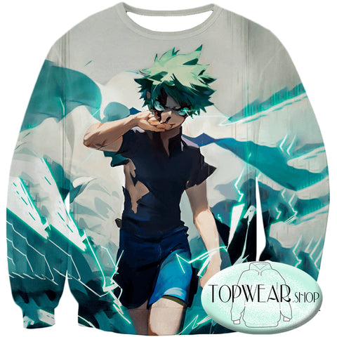 Image of My Hero Academia Hoodies - Izuki Midoriya Incredible Hero Zip Up Hoodie