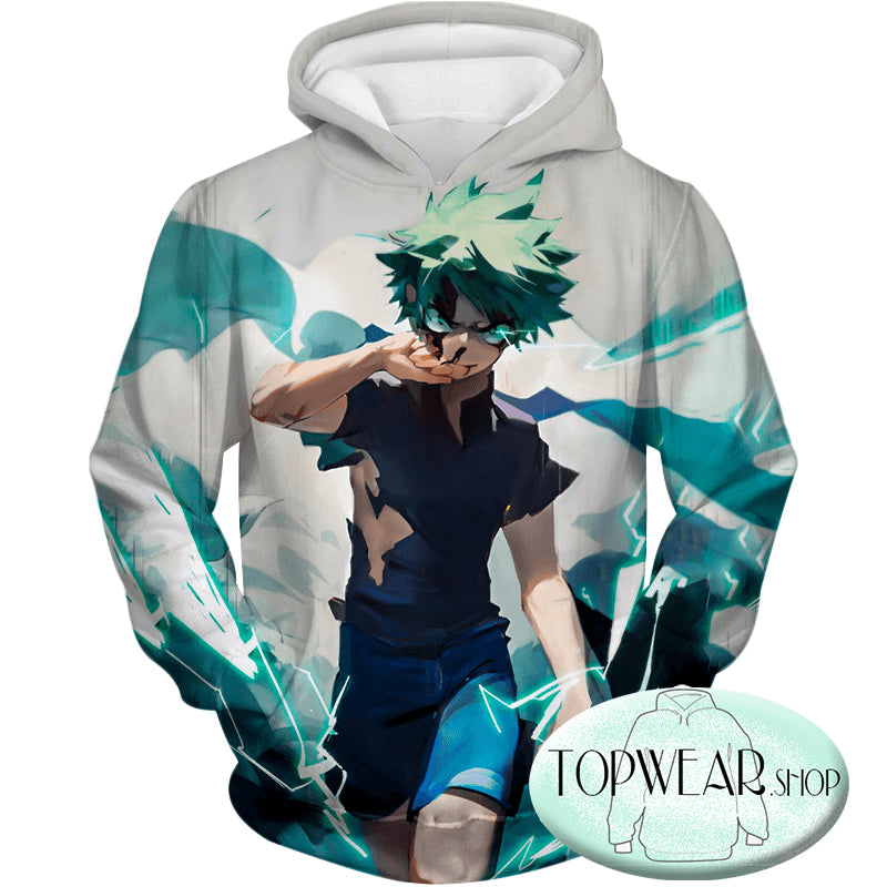 My Hero Academia Hoodies - Izuki Midoriya Incredible Hero Zip Up Hoodie