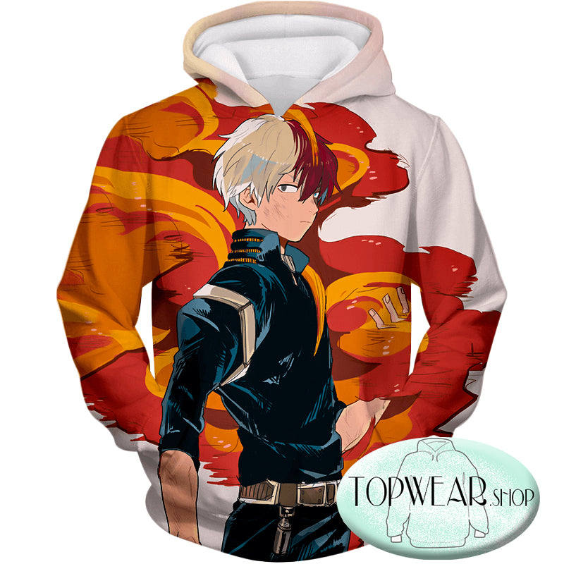 My Hero Academia Hoodies - Most Favourite Hero Half Cold Half Hot Shoto Pullover Hoodie