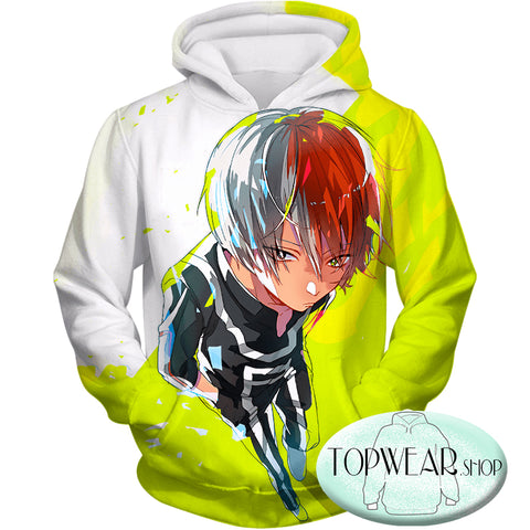 Image of My Hero Academia Hoodies - Super Cool Half Cold Half Hot Shoto Amazing Pullover Hoodie