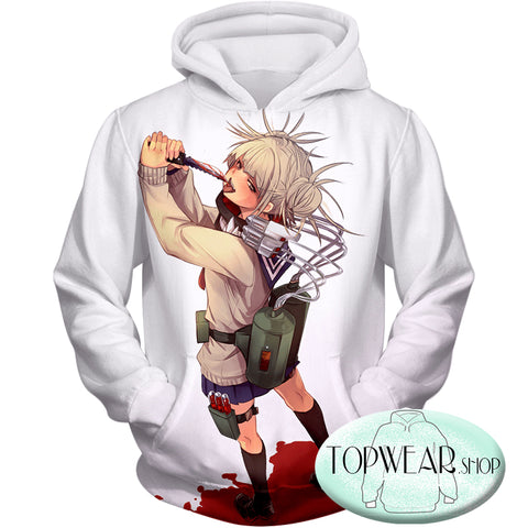 Image of My Hero Academia Hoodies - Transforming Villain Toga Himiko Zip Up Hoodia