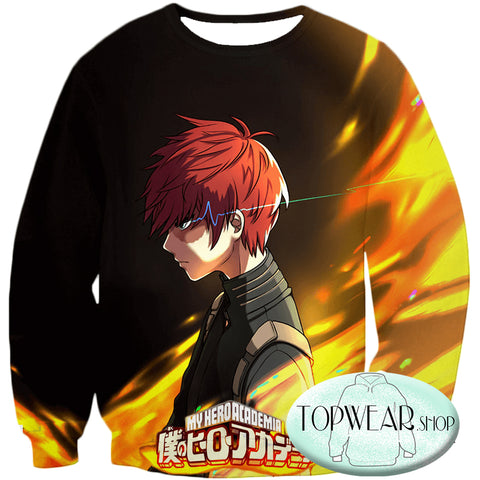 Image of My Hero Academia Hoodies - U.A High Hero Student Shoto Todoroki Pullover Hoodie