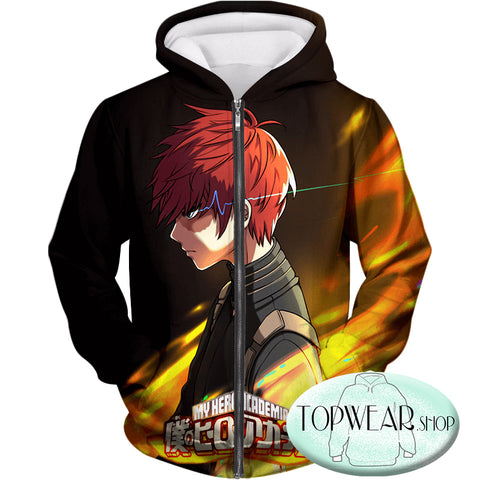 Image of My Hero Academia Sweatshirts - U.A High Hero Student Shoto Todoroki Sweartshirt