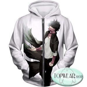 My Hero Academia Hoodies - My Hero Academia Villain Dabi Zip Up Hoodie