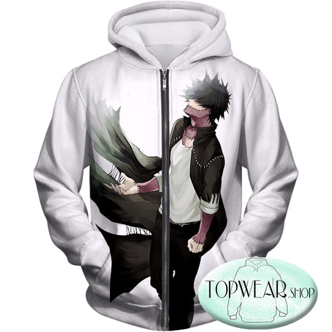 Image of My Hero Academia Hoodies - My Hero Academia Villain Dabi Zip Up Hoodie