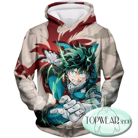 Image of My Hero Academia Sweatshirts - One for All Hero Academia Deku Sweatshirt