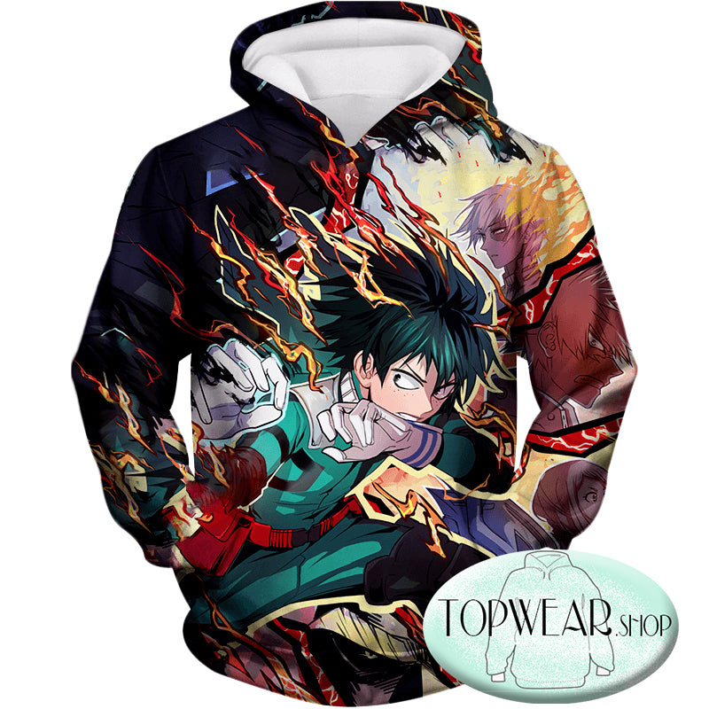 My Hero Academia Hoodies -  Izuki Midoriya One for All Quirk Pullover Hoodie