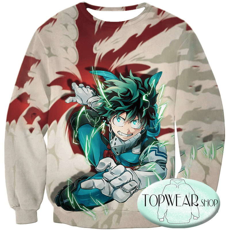My Hero Academia Hoodies - One for All Hero Academia Deku Pullover Hoodie