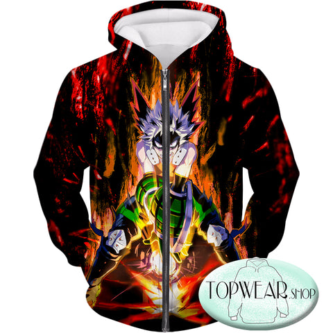 Image of My Hero Academia Hoodies - Quirk Hero Bakugo Katsuki Ultimate Action Pullover Hoodie