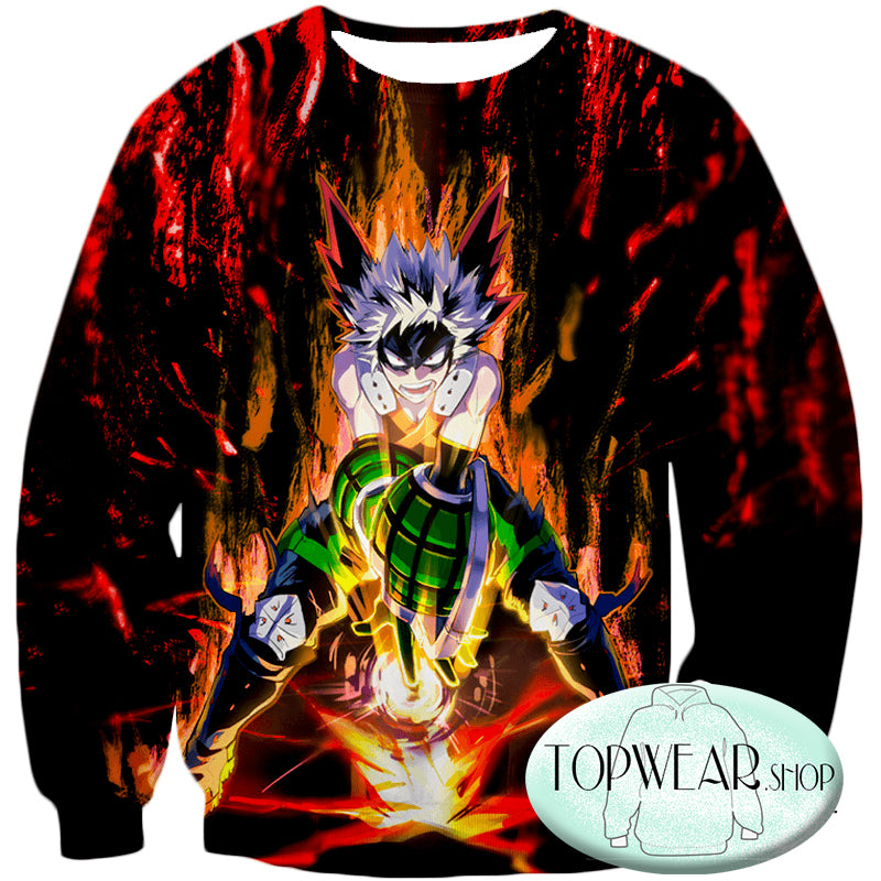 My Hero Academia Hoodies - Quirk Hero Bakugo Katsuki Ultimate Action Pullover Hoodie