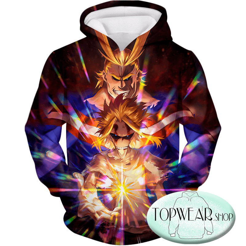 My Hero Academia Hoodies -Number One Hero All Might One for All Holder Zip Up Hoodie