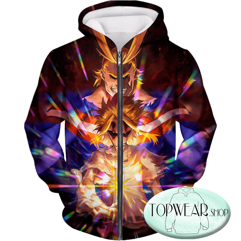 My Hero Academia Sweatshirts -Number One Hero All Might One for All Holder Sweatshirt