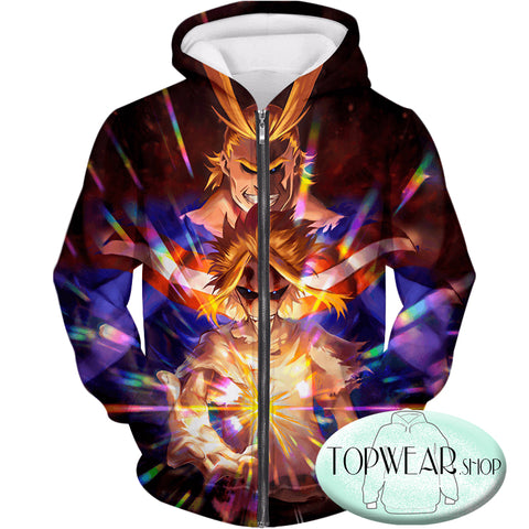 Image of My Hero Academia Hoodies -Number One Hero All Might One for All Holder Pullover Hoodie