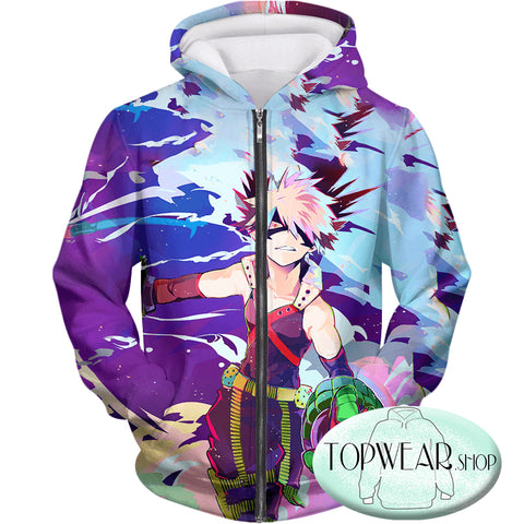 Image of My Hero Academia Hoodies - Cool Explosive Hero Bakugo Action Pullover Hoodie