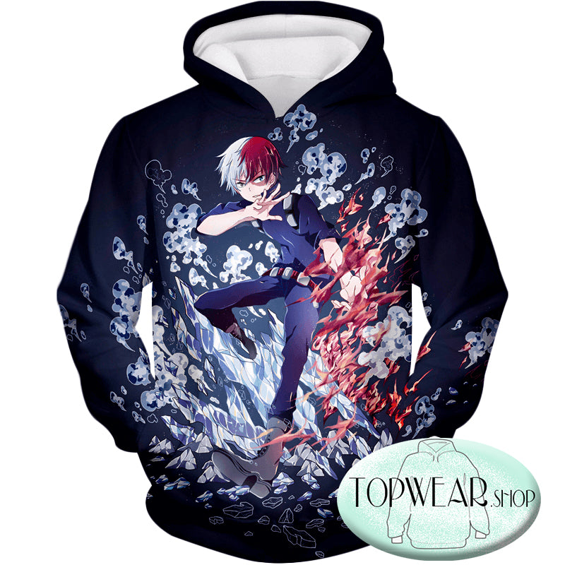 My Hero Academia Sweatshirts - Shoto Todoroki Awesome Anime Sweatshirt